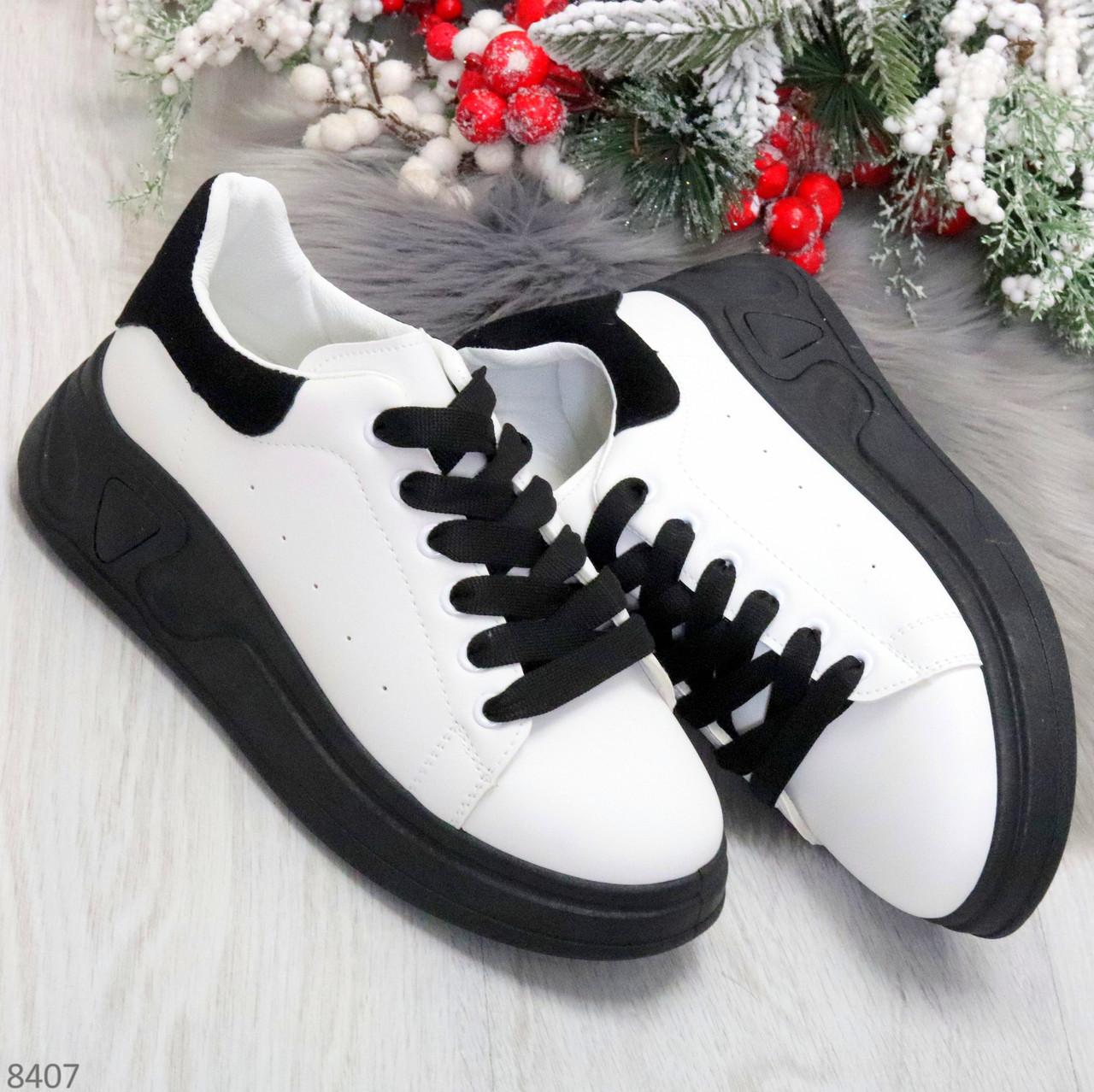 Ультра модные молодежные черно - белые женские кроссовки в ассортименте