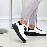 Ультра модные молодежные черно - белые женские кроссовки в ассортименте, фото 3