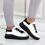 Ультра модные молодежные черно - белые женские кроссовки в ассортименте, фото 5