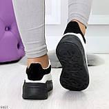 Ультра модные молодежные черно - белые женские кроссовки в ассортименте, фото 6