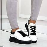 Ультра модные молодежные черно - белые женские кроссовки в ассортименте, фото 7
