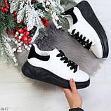 Ультра модные молодежные черно - белые женские кроссовки в ассортименте, фото 9