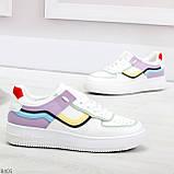 Яркие молодежные дышащие женские кроссовки кеды мультиколор, фото 2
