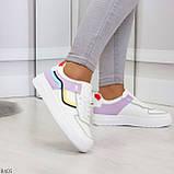 Яркие молодежные дышащие женские кроссовки кеды мультиколор, фото 4