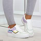 Яркие молодежные дышащие женские кроссовки кеды мультиколор, фото 5