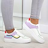 Яркие молодежные дышащие женские кроссовки кеды мультиколор, фото 7