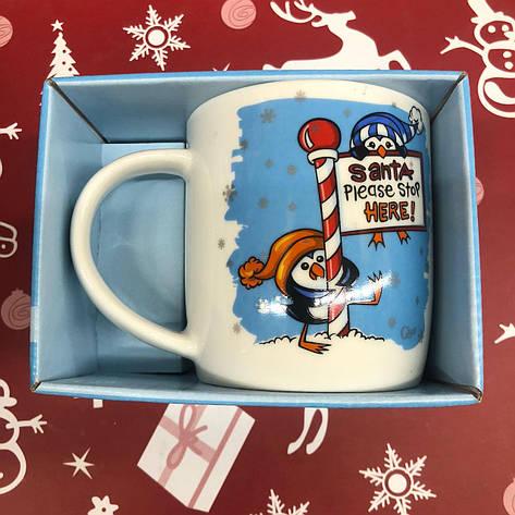 Чашка Кружка с принтом City-A 330 мл. Новый Год Пингвины, фото 2