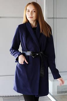 Пальто женское темно-синее размер L AAA 123590M