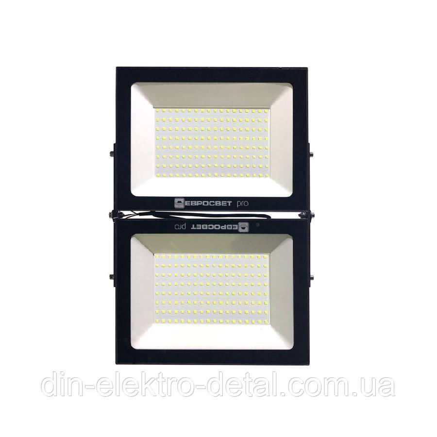 Прожектор светодиодный ЕВРОСВЕТ 200Вт 6400К EV-200-504M PRO 18000Лм модульный