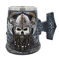 Кружка Череп викинга (Молот Тора)