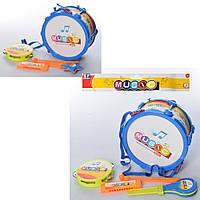 Музыкальные инструменты 9266E-F (72шт) барабан, бубен, губная гармошка, 2вида, в кульке,28,5-28-11см