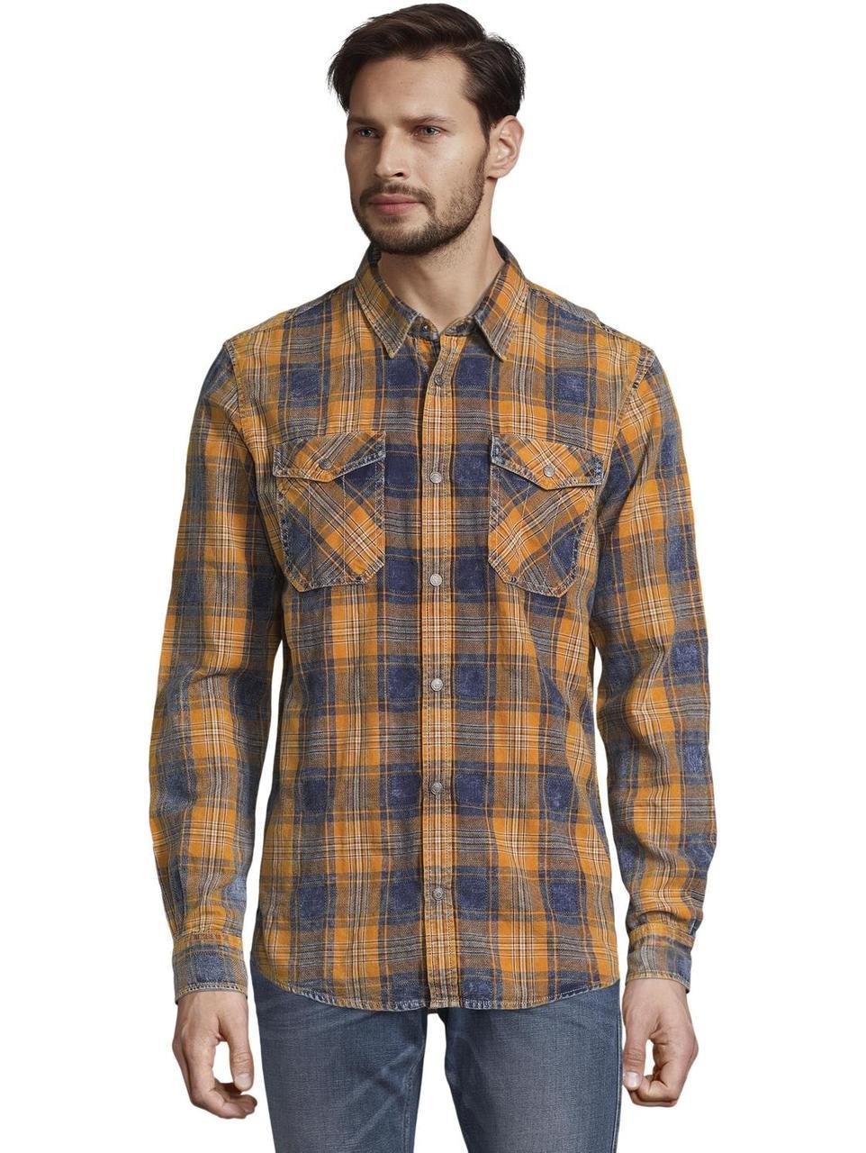 Рубашка Tom Tailor 1014480 XL Оранжевый с синим