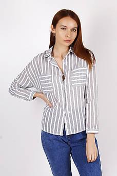Рубашка женская белая в полоску размер L 103100M