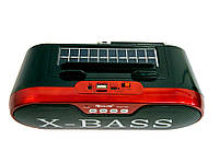 Блютуз колонка с радио Golon RX BT190S красная, портативная колонка с солнечной панелью Портативная акустика
