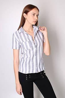 Рубашка женская серая AAA 121274M