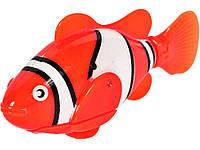 Опт. Рыбка Robofish на батарейках Маленькая Красный