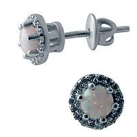 Серебряные серьги DreamJewelry с опалом 0.801ct (2043782)