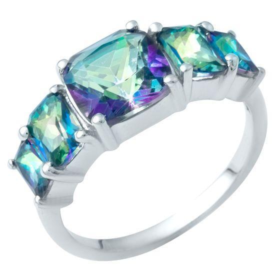 Серебряное кольцо DreamJewelry с натуральным мистик топазом 2.95ct (1949726) 18 размер