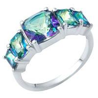 Серебряное кольцо DreamJewelry с натуральным мистик топазом 2.95ct (1949726) 18 размер, фото 1