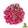 Розы бутоны розовые 2 см диаметр Декоративный букетик 10 шт/уп