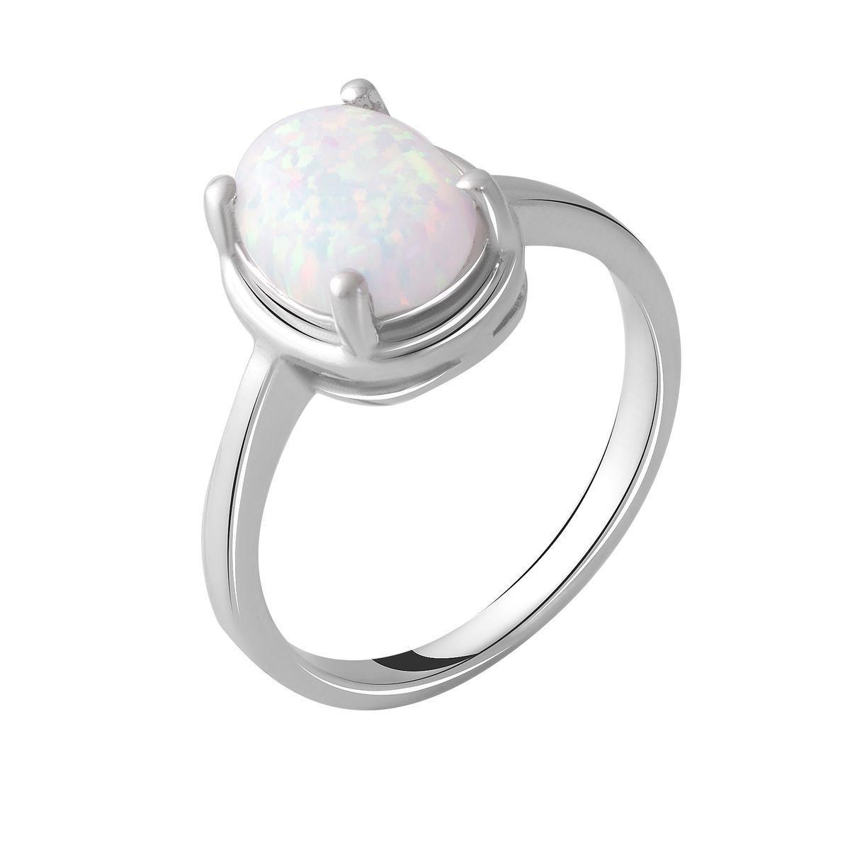 Серебряное кольцо DreamJewelry с опалом 1.538ct (2049883) 17.5 размер