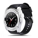 Умные смарт-часы Smart Watch V8. Цвет: серебро, фото 2