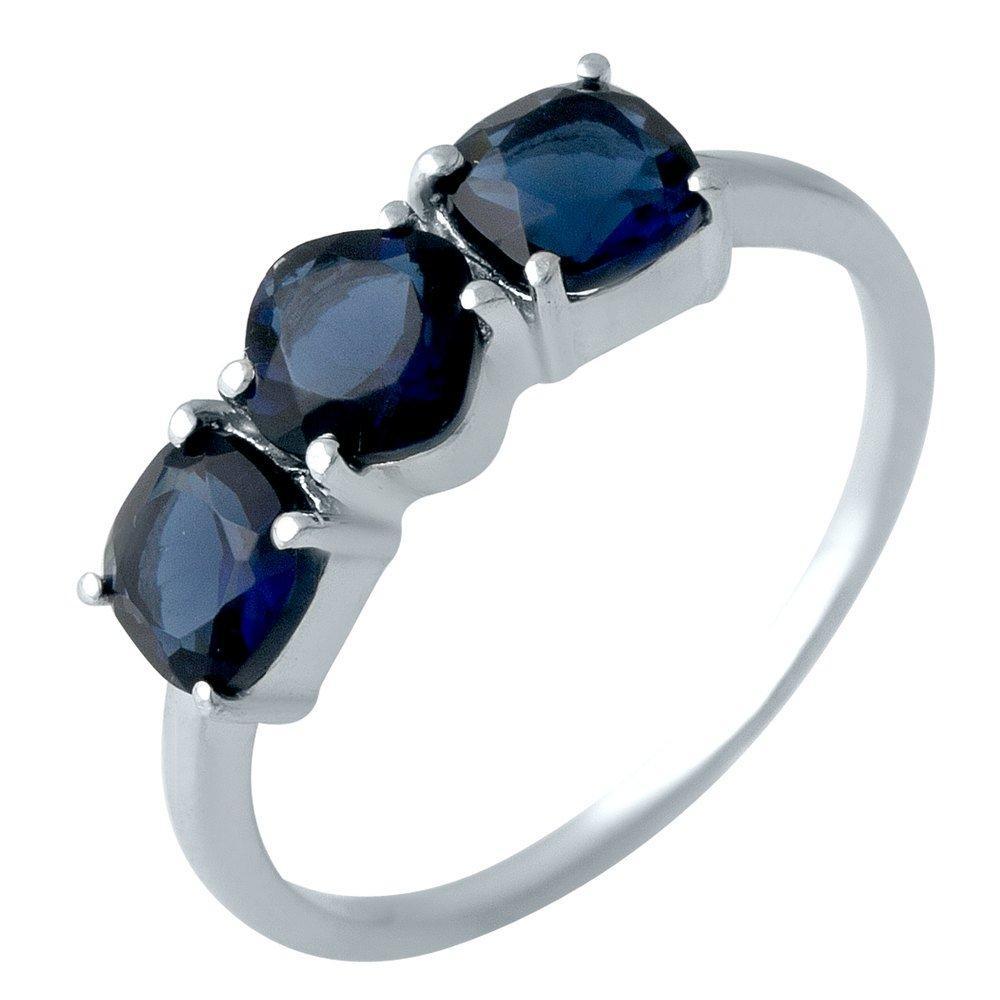 Серебряное кольцо DreamJewelry с сапфиром nano 1.338ct (1988688) 17 размер