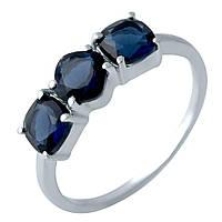 Серебряное кольцо DreamJewelry с сапфиром nano 1.338ct (1988688) 17 размер, фото 1