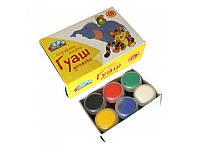 """Краски гуашь 6 цветов """"Любимые игрушки"""" Гамма 221031"""