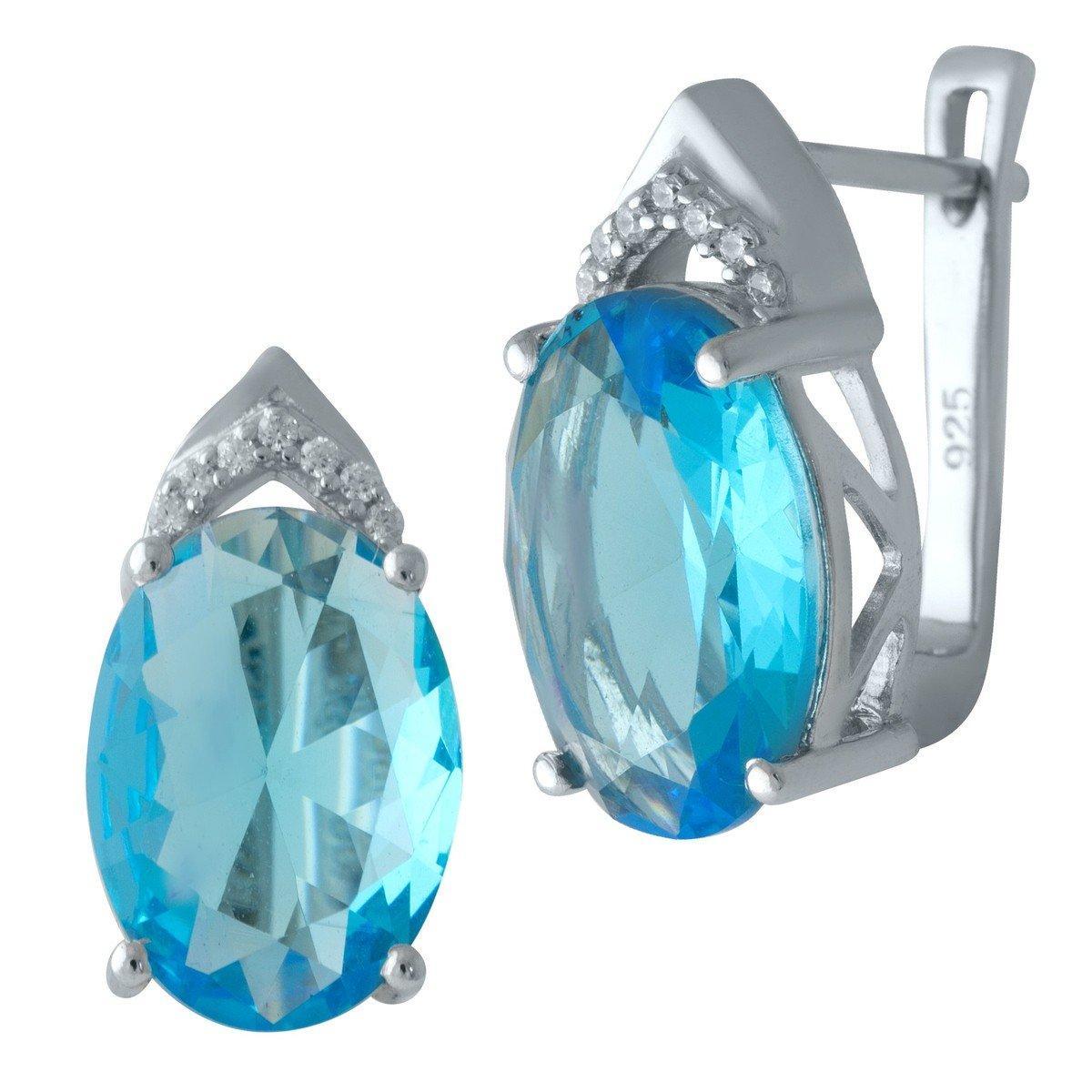 Серебряные серьги DreamJewelry с аквамарином nano (2011699)