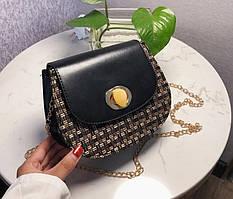 Женская сумка в стиле Ретро (черная)
