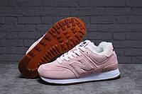 Зимние женские кроссовки 31353, New Balance 574 (мех), бледно-розовые, [ 38 40 ] р. 38-24,0см., фото 1