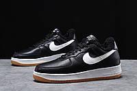 Зимние мужские кроссовки 31733, Nike Air AF1 (мех), черные, [ 42 43 44 ] р. 41-26,0см.