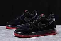 Зимние мужские кроссовки 31734, Nike Air AF1 (мех), черные, [ 42 43 ] р. 42-26,5см.