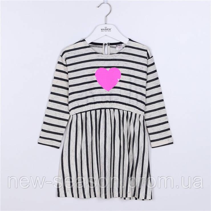Платье с длинным рукавом 104-134 Wanex EL-2-40875