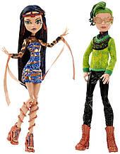 Набор кукол Монстер Хай Дьюс Горгон и Клео де Нил Бу Йорк.