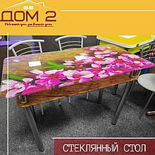 Стеклянный стол Хризантема