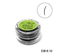 Высококачественные черные ресницы в банке (Ø 0,25 mm, длина 10 mm, 4000 шт.) Lady Victory  LDV ESB-K-10 /01-1