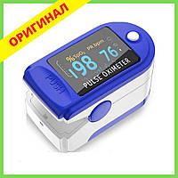 ПульсОксиметр датчик пульса кислорода медицинский в крови на палец pulse oximeter пульсометр оксометр, фото 1