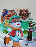 №5  Мини открытка  для подписи подарков с глиттером  МИКС расцветок,95*85 мм (150 шт в упаковке), фото 2