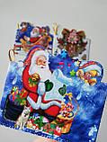 №5  Мини открытка  для подписи подарков с глиттером  МИКС расцветок,95*85 мм (150 шт в упаковке), фото 3