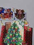 №5  Мини открытка  для подписи подарков с глиттером  МИКС расцветок,95*85 мм (150 шт в упаковке), фото 4