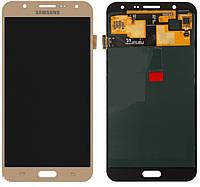 Дисплей для Samsung J700H   DS Galaxy J7   J700F   J700M с сенсорным стеклом (Золотой) TFT подсветка оригинал