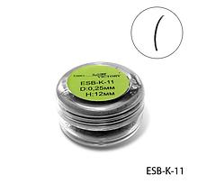 Высококачественные черные ресницы в банке (Ø 0,25 mm, длина 12 mm, 4000 шт.) Lady Victory  LDV ESB-K-11 /01-1