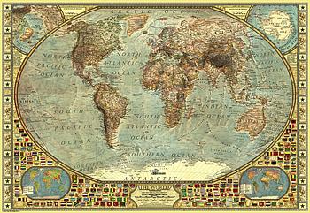 Пазлы Anatolian 2000 элементов Карта мира Гарантия качества Быстрая доставка