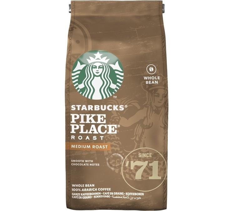 Кофе в зернах Starbucks Pike Place Roast 200 грамм, США