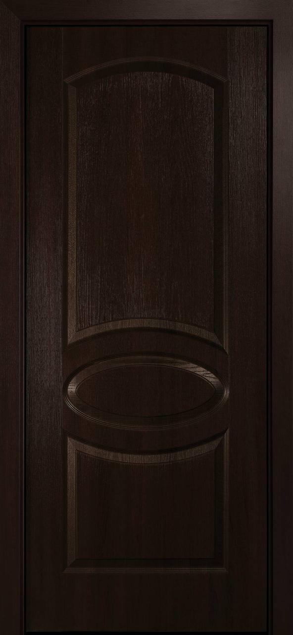 """Дверь межкомнатная """"Новый Стиль"""" модель ПВХ Овал, каштан (глухое)"""