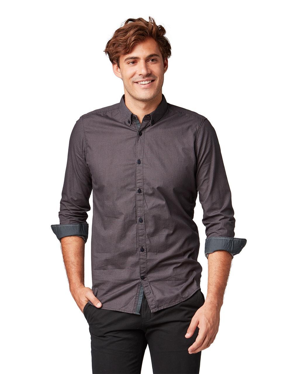 Рубашка Tom Tailor 20557050910 XL Тёмно-серый