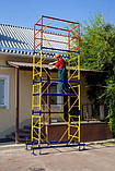 Вишка тура будівельна пересувна 1.6 х 0.8 (м) 4+1, фото 4