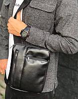 Мужская кожаная сумка через плечо Dublin, фото 1